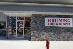 bruning fire hall window wrap
